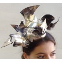 Gold Leather Feather Headpiece