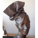 Bronze Sequin Drape Hat