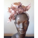 Rose Gold Leather Feather Headpiece